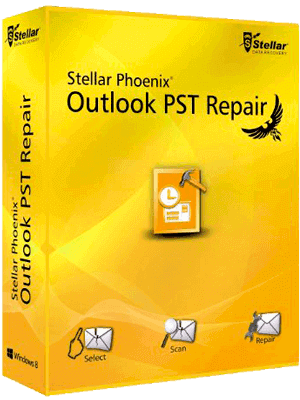 Stellar Phoenix Outlook PST Repair box