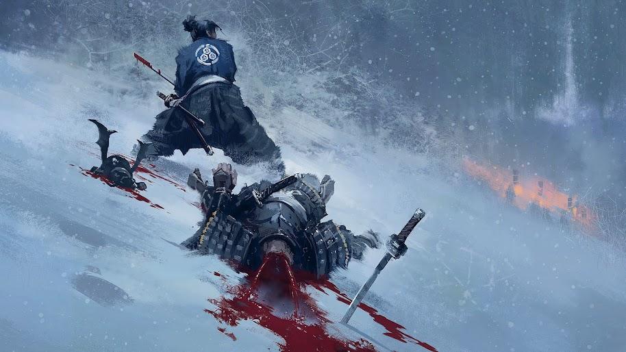 Samurai Fight 4k Wallpaper 20