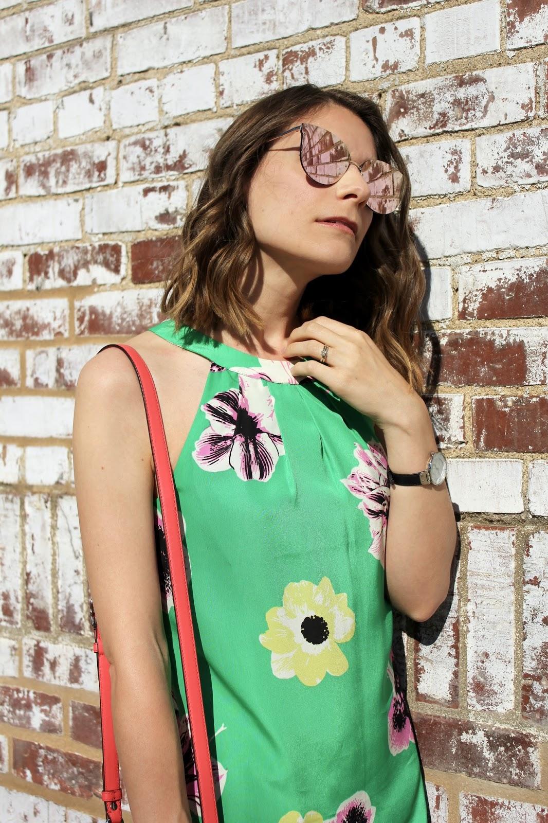 High Neckline Silk Dress