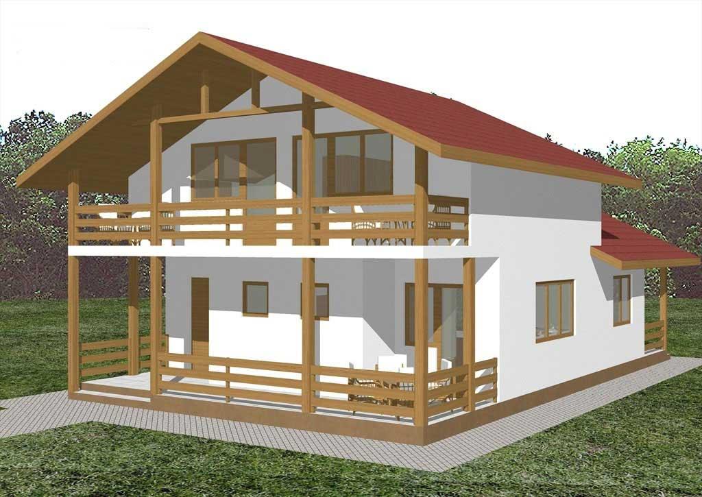 Planos y fachadas de casa de vacaciones de dos plantas for Fachadas de casas 1 planta