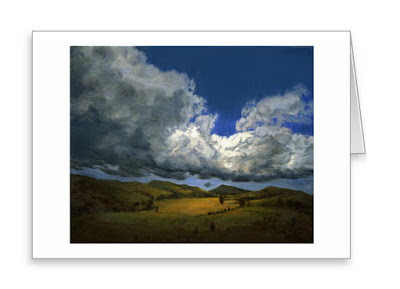 Billowing Clouds Go by and By Holiday Greeting Card
