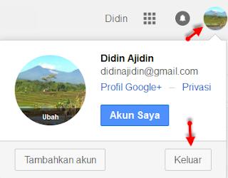 Cara keluar atau sign out dari email gmail
