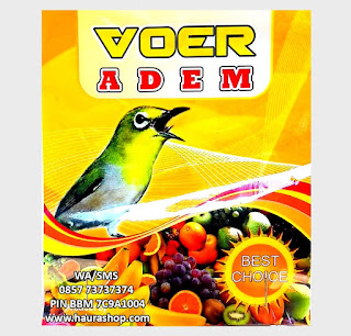 Voer ADEM terbuat dari sayuran dan buah seperti wortel, kentang, sawi, telur dan derivat lain nya (ekstrak nabati, madu, buah segar dan susu)., dll