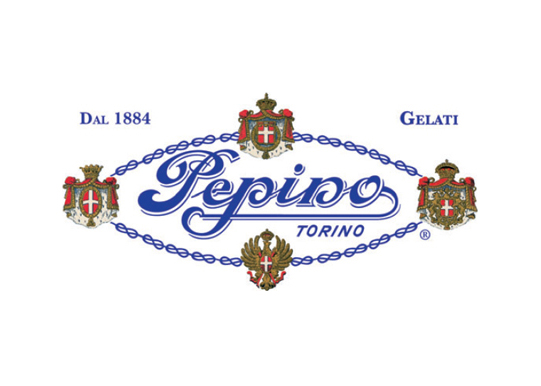 Pepino logo with the royal seal as a symbol of royal supplier