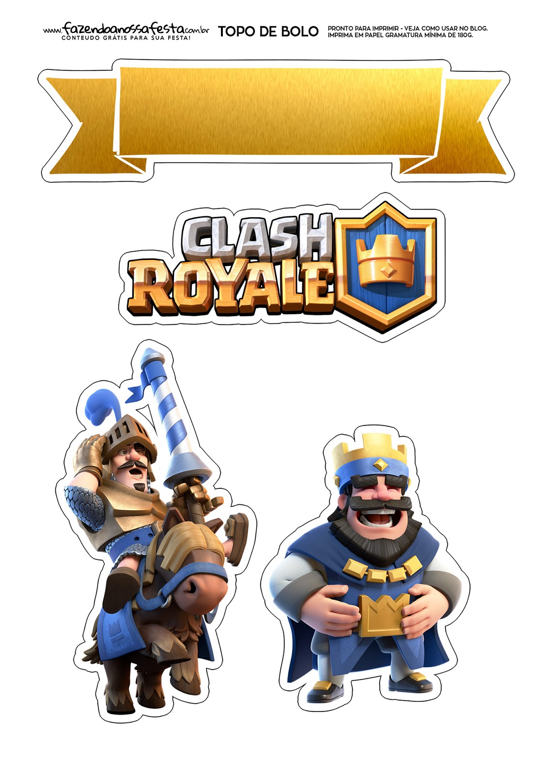 Clash Royale Free Printable Cake Toppers Oh My Fiesta