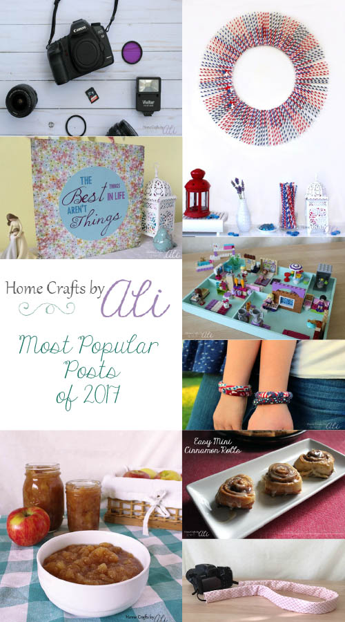 most popular craft and recipe posts of 2017 on Home Crafts by Ali