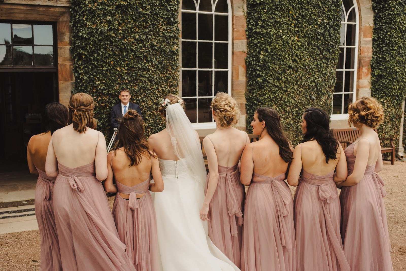 Scotland wedding inspiration bridesmaids bhldn