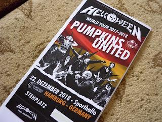 biletul pentru concertul Helloween de la Hamburg