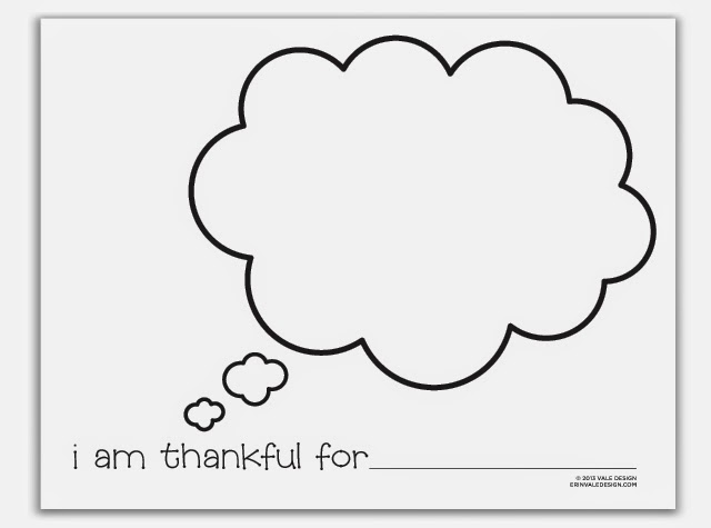 early play templates: Thankful Thanksgiving templates