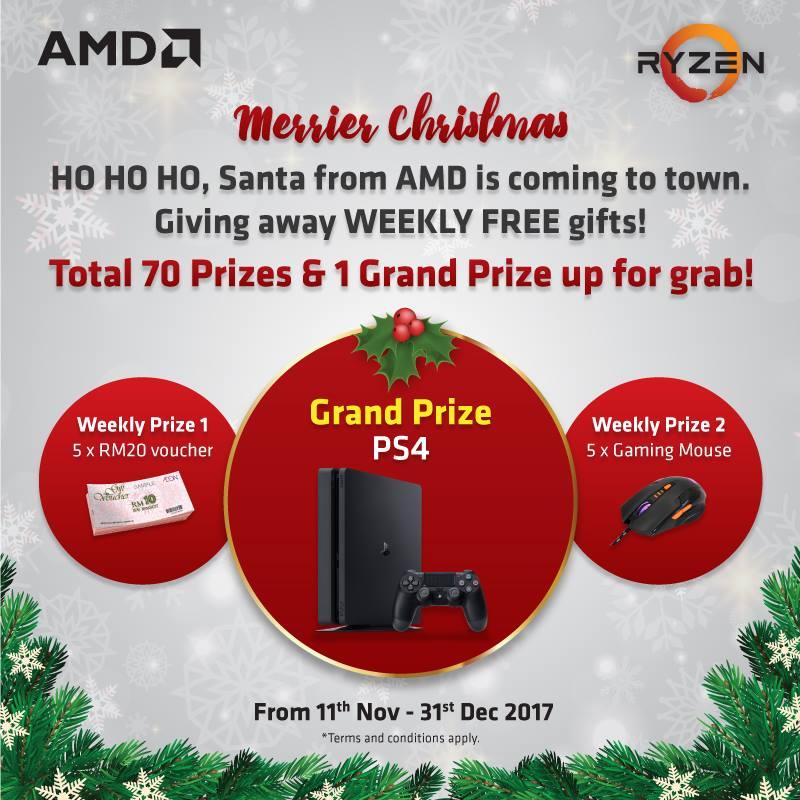 AMDMerrierChristmas Facebook Contest: Win Sony PlayStation 4