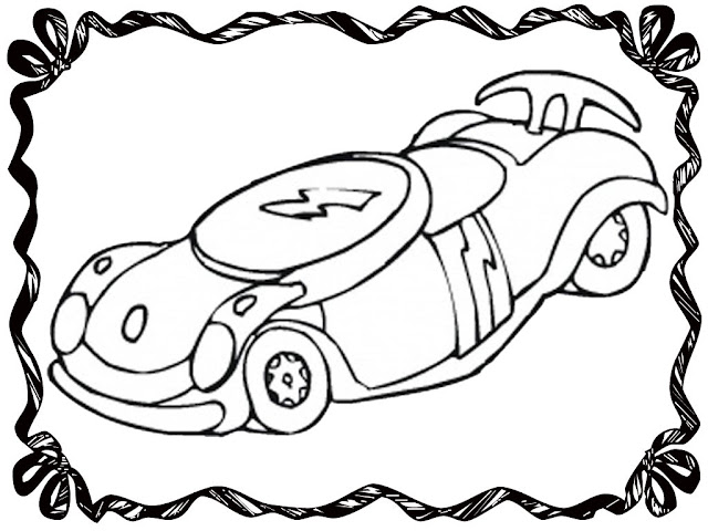 Disney Race Car Coloring Pages