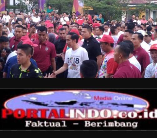 Saat Hadiri Gerak Jalan Sehat Disulsel,Jokowi Ditanya Soal Isu PKI,Begini Responya