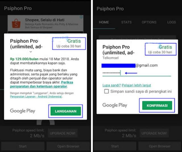 Cara Upgrade Psiphon Pro Jadi Unlimited Tanpa Root 4