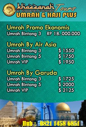 Biaya Umroh 2016 Paket Promo