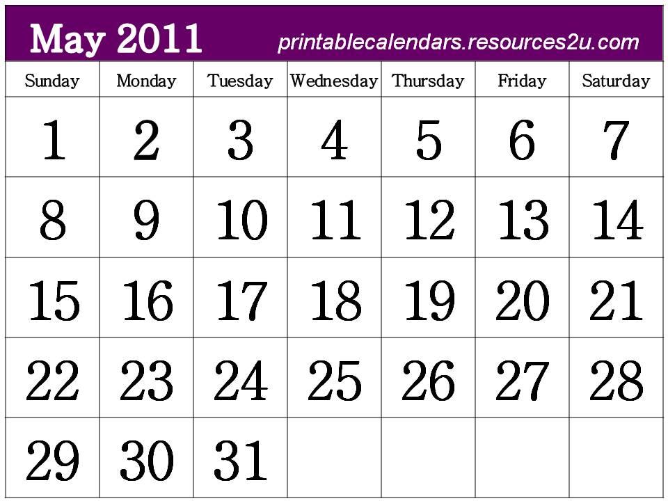 iphoto calendar templates - kelonyo 2011 calendar printable free
