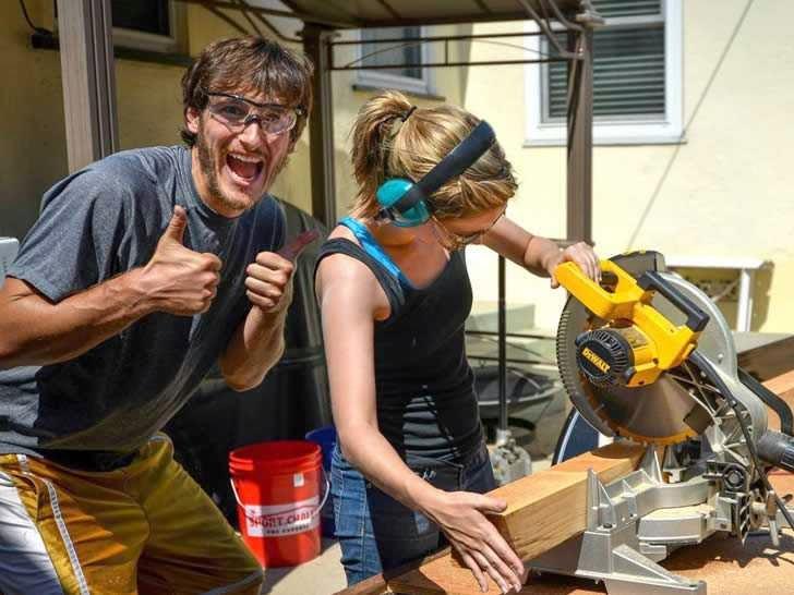 Guillaume Dutilh y Jenna Spesard Construyendo