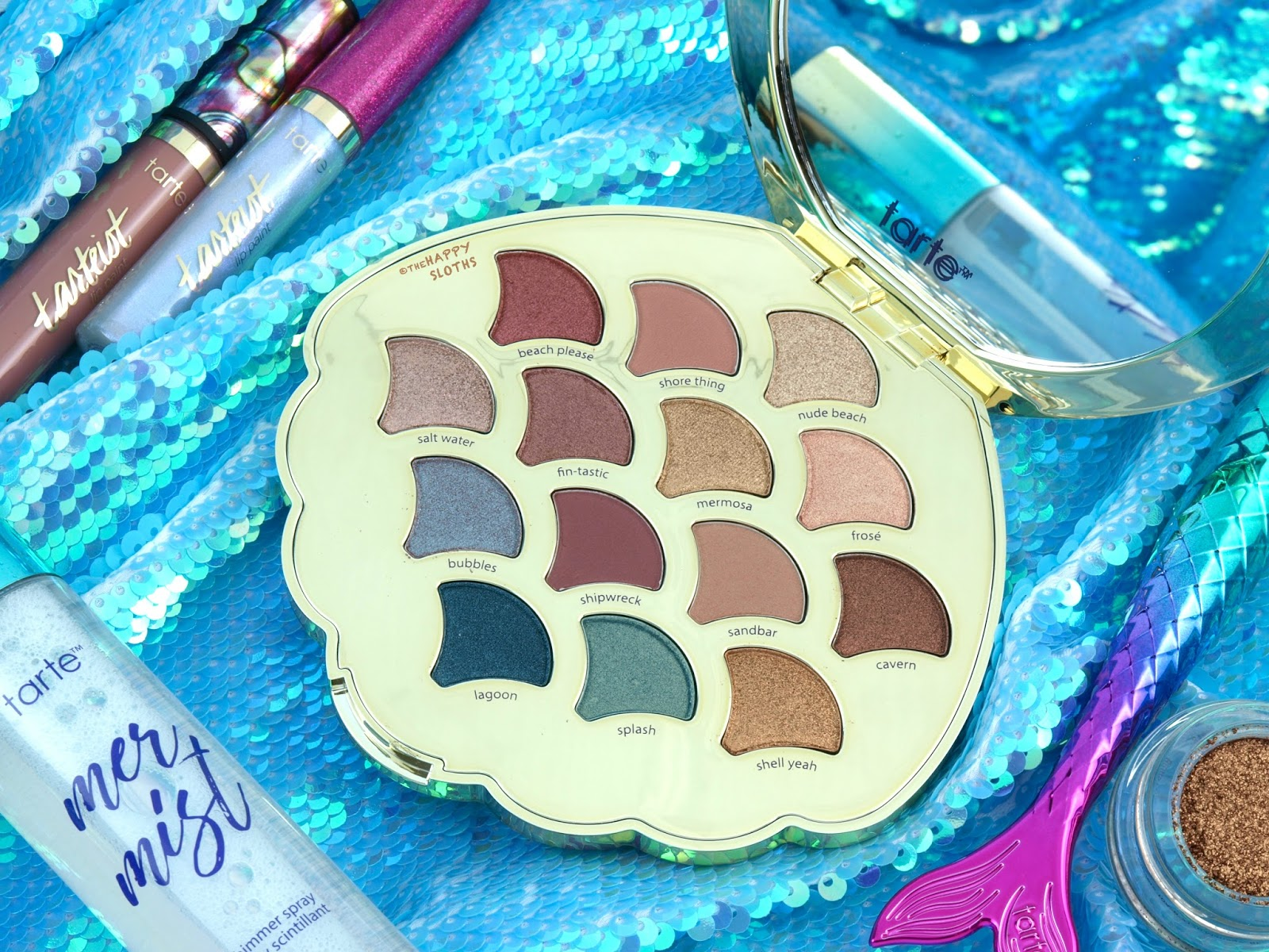 Tarte Mermaid Collection | Be A Mermaid & Make Waves Eyeshadow Palette: Review & Swatches