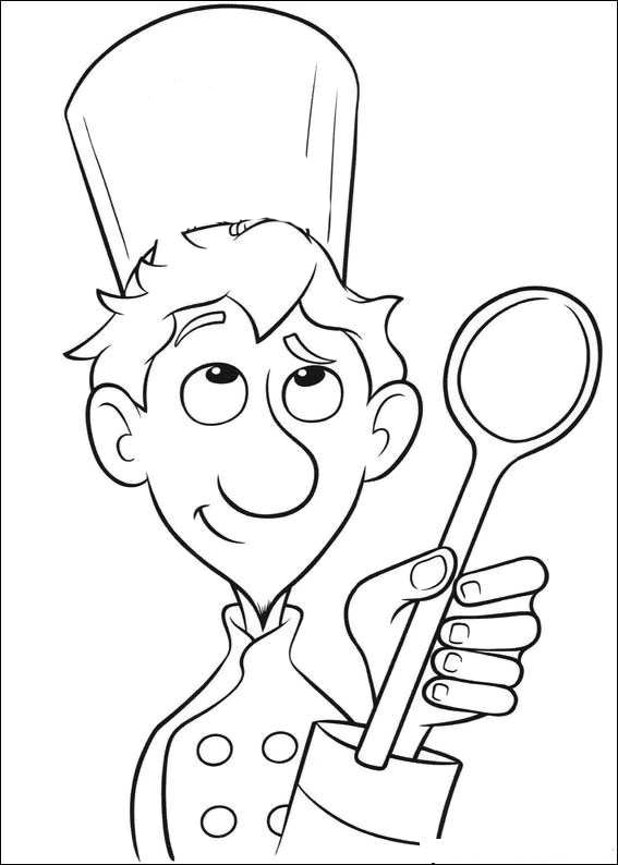 Free coloring pages of cook