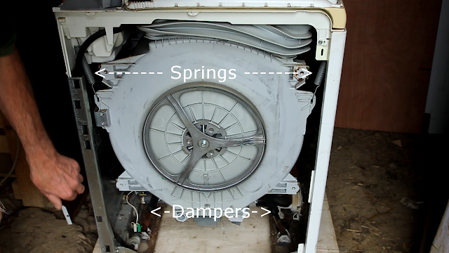 Washing machine to pedal power conversion