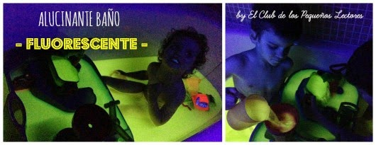 Manualidad infantil baño fluorescente