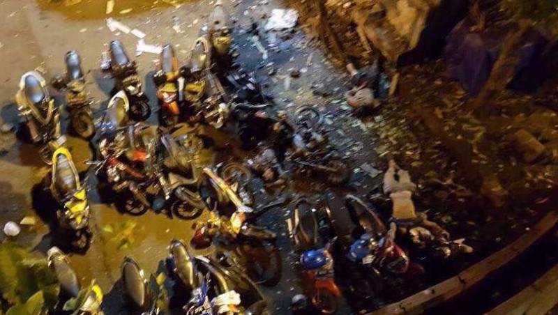 Penampakan potongan tubuh akibat ledakan bom di Terminal Kampung Melayu