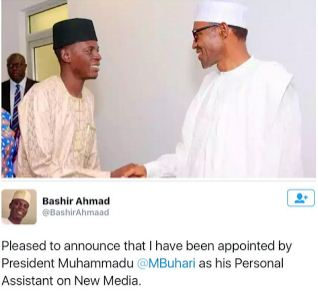 24-year-old Bashir Ahmad Named As Buhari's Personal Assistant on New Media