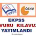 2016 EKPSS başvuru Kılavuzu Yayında