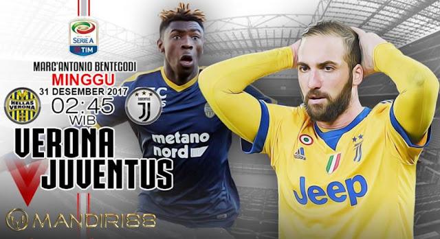 Prediksi Bola : Hellas Verona Vs Juventus , Minggu 31 Desember 2017 Pukul 02.45 WIB