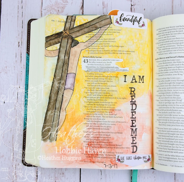 Heather's Hobbie Haven - Bible Journaling - Illustrated Faith I AM Kit - Day 3