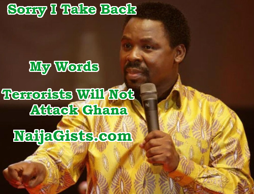 tb joshua retracts prophecy ghana