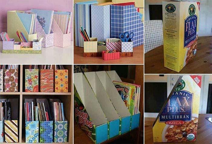 Renkli Bantlarla Kutudan Organizer Yapımı örnekleri 3