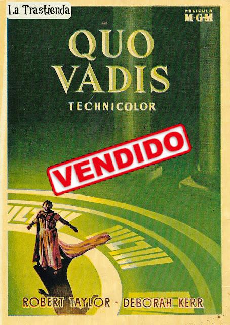 Quo Vadis - Programa de Mano- Rareza - Robert Taylor - Deborah Kerr