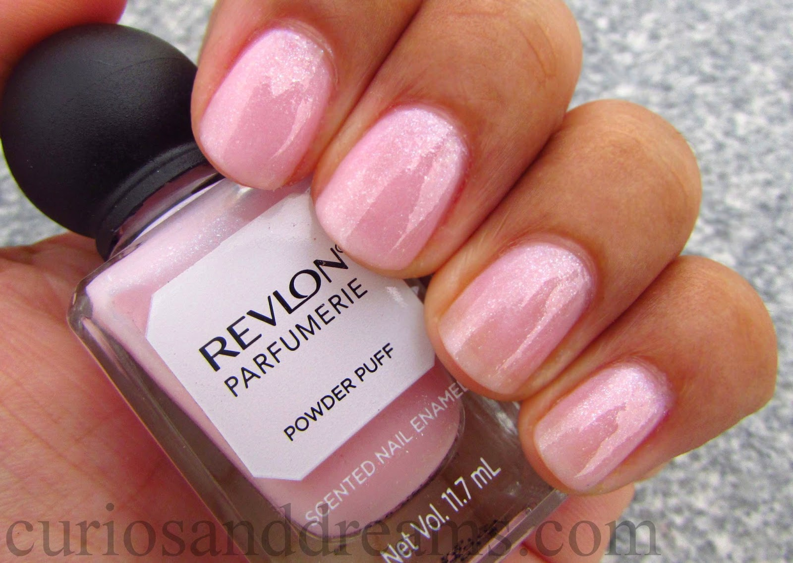Revlon Parfumerie Powder Puff review,  Revlon Powder Puff review, Revlon Parfumerie Scented Nail Enamel, Powder Puff swatch
