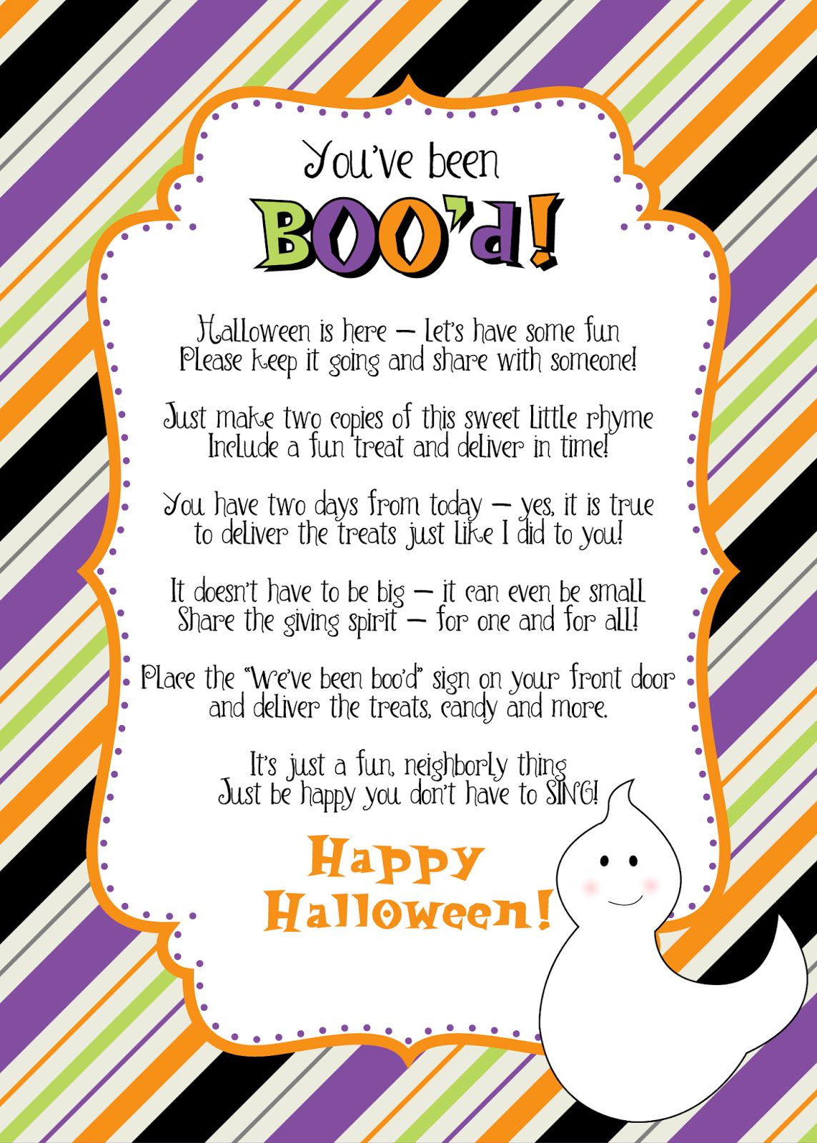 Grant Avenue Design Another Freebie Today You Ve Been Boo D Printables