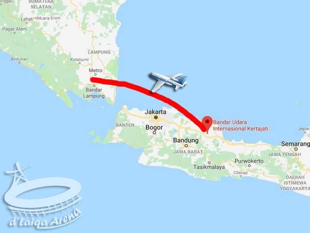 D Laiqa Arena Lampung Majalengka Naik Pesawat Terbang