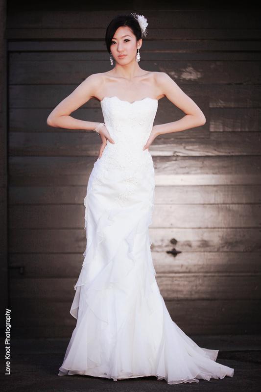 Asian girl wedding dress