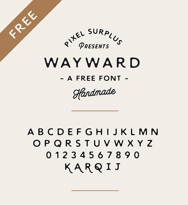 Download 22 Font Terbaru Gratis Edisi Mei 2016 - Wayward Free Font