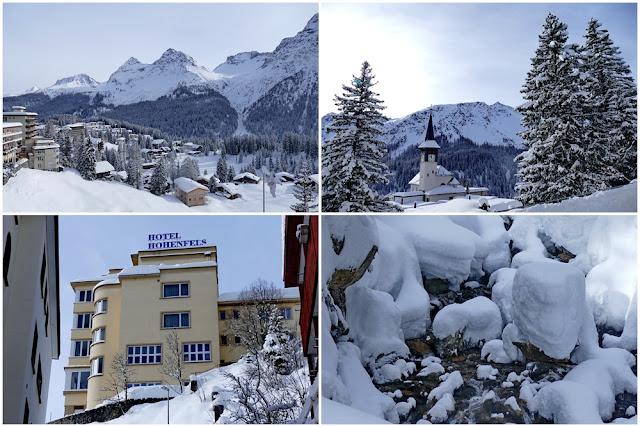 Hotel Hohenfels, Arosa, Aussicht, Winter, Schnee
