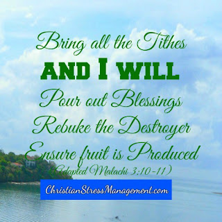 Bring all the tithes and I will pour out blessings, rebuke the destroyer and ensure fruit is produced. (Adapted Malachi 3:10-11)