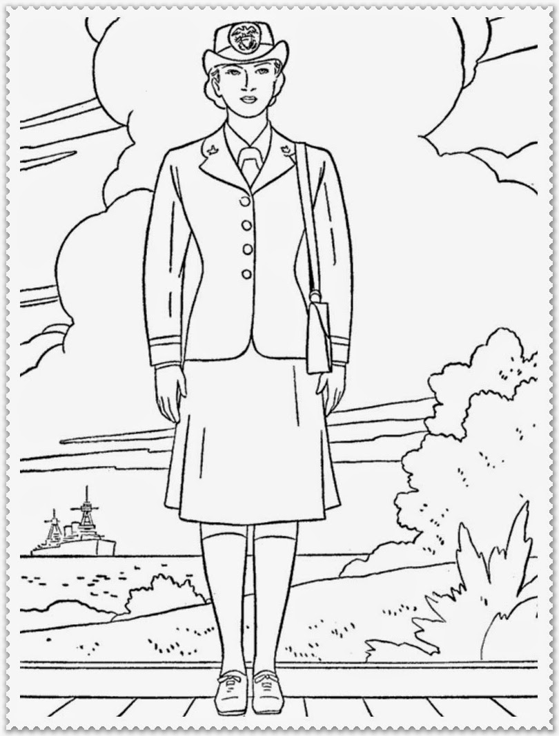 Veteran's Day Coloring Pages | Realistic Coloring Pages