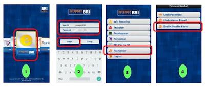 cara blokir kartu atm bri melalui internet banking bri