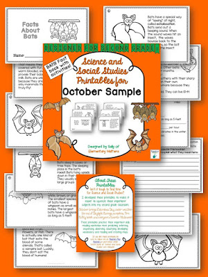 Bats Informational Text Mini-Book Freebie by Elementary Matters