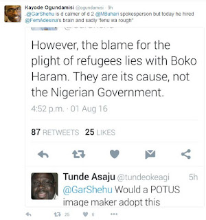 Boko Haram responsible for plight of starving refugees, not Buhari - presidency
