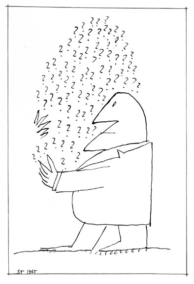 Las preguntas esenciales de la vida en tus manos. Saul Steinberg