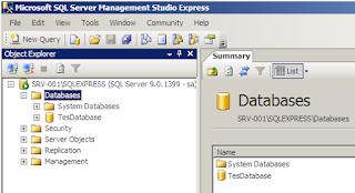 Membuat database SQL Server dengan Management Studio