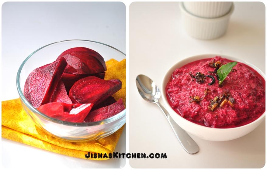 Jishas Kitchen  Beetroot Pachadi  Onam Sadya Special