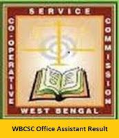 WBCSC Office Assistant Result
