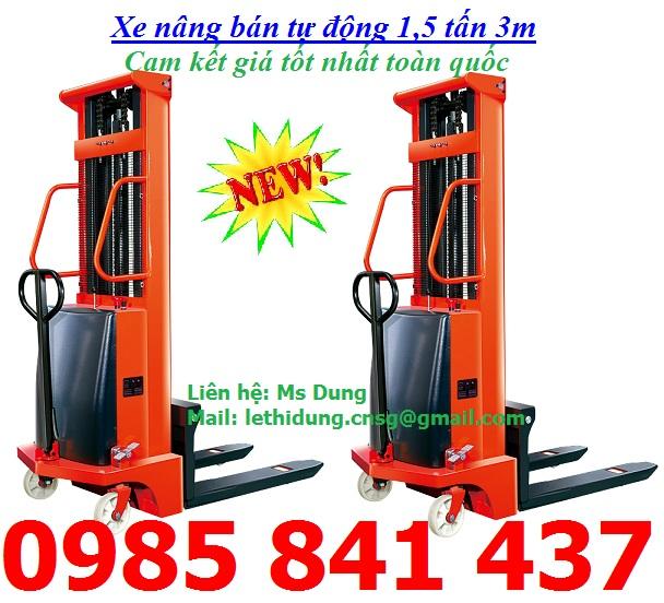 Xe nâng bán tự động nhập khẩu giá rẻ - gọi ngay 0985 841 437
