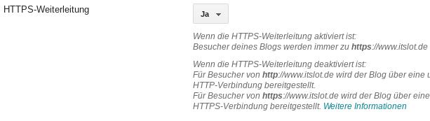 Blogger Blog auf https umstellen - Anleitung