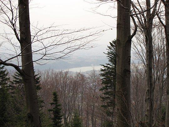 Widok z Uklejnej na dolinę Raby w kierunku północnym